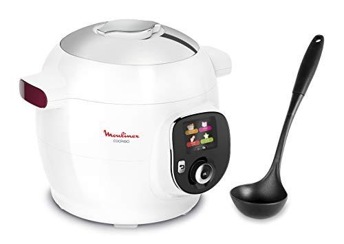 Moulinex Cookeo+ Multicooker Intelligent 100 ricette, Mestolo e Programma Weight Watchers Inclusi 6L fino a 6 Persone, 6 Modalità di Cotone, Bianco 1600W YY4407FB