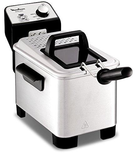 Moulinex Easy Pro 3 L-Freidora classica, 2300 W, 2 piani di cottura, termostato regolabile, 2 L/600 g), colore: argento