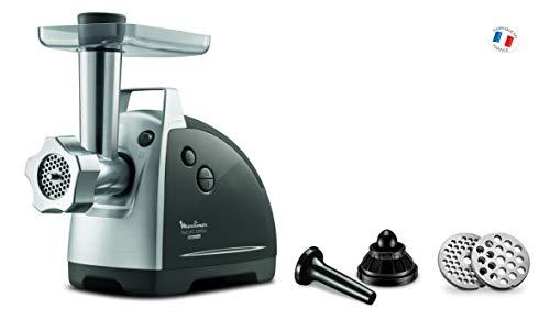 Moulinex ME686832 - Tritatutto elettrico da 2200 W, 2 griglie di macinatura, accessori per kebbés e salsicce