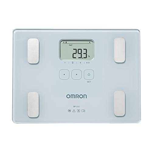 OMRON BF212 Bilancia e Misuratore Grasso Corporeo, Indice di Massa Corporea, Memoria per 4 Utenti