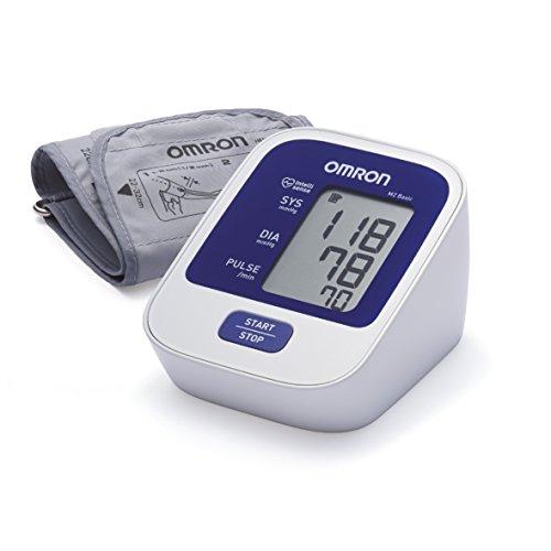 OMRON Healthcare M2 Basic Misuratore di Pressione da Braccio, Bianco/Blu