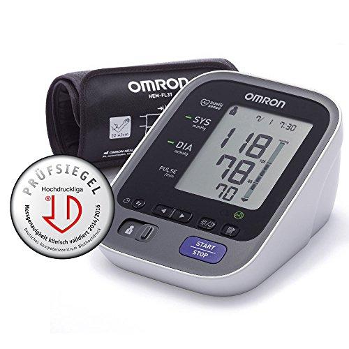 Omron M700 Intelli IT Monitor automatico della pressione arteriosa nella parte superiore del braccio, con funzione Bluetooth e bracciale Intelli Wrap [Importato dalla Germania]