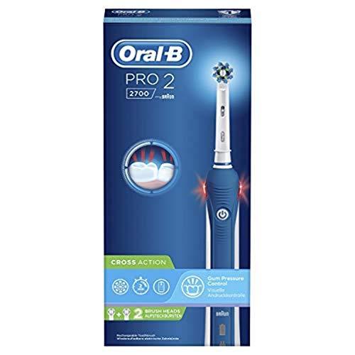 Oral-B Pro 2 2700 - Spazzolino da denti elettrico, Blu/Bianco