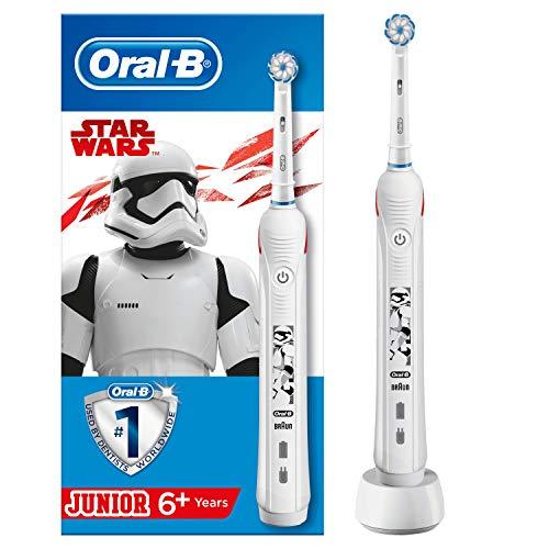 Oral-B Spazzolino Elettrico Ricaricabile Junior, 1 Manico con Personaggi di Star Wars, 1 Testina, per Età da 6 Anni