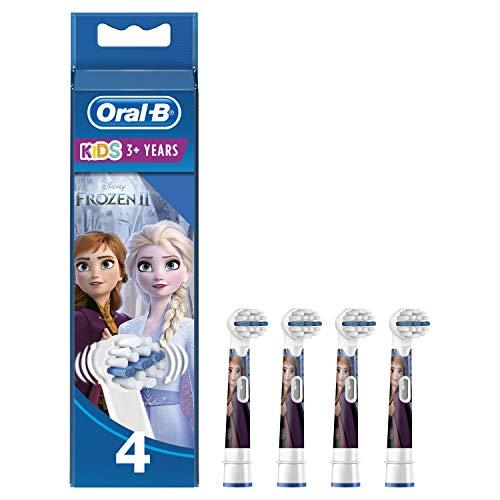 Oral-B Stages Power 4 Testine di Ricambio per Spazzolino Elettrico con i Personaggi di Frozen - Il regno di ghiaccio, Modelli /Colori assortiti