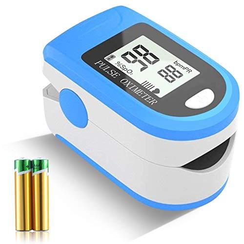 Ossimetro, pulsossimetro da dito, saturazione di ossigeno nel sangue, frequenza del polso e monitor del livello SpO2, adatto per la famiglia, il fitness e gli sport estremi