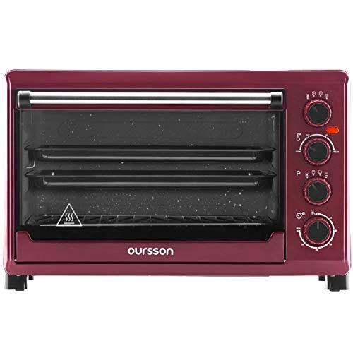 Oursson Forno elettrico con convettore, Capacità 42 litri, 4 anni di garanzia, 12 programmi per cucinare, Temperatura di cottura, 100-230 C°, funzione di pulizia automatica, 2000 watt, MO4225/DC