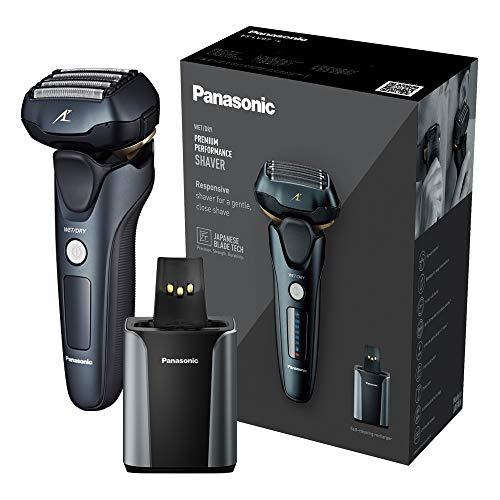 Panasonic ES-LV97 - Rasoio elettrico a 5 lame, con supporto per pulizia e ricarica, spina UK a 2 pin