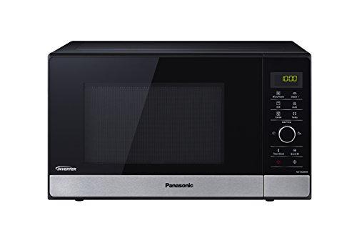 Panasonic NN-GD38HSSUG Forno a Microonde, 1000 W, 23 Litri, Acciaio, Nero, Banda Frontale Silver