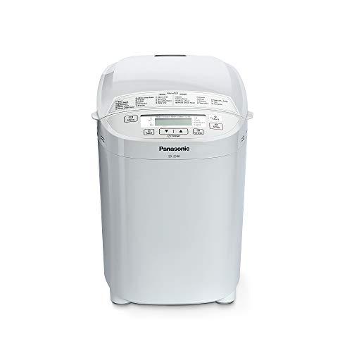 Panasonic SD-2500WXE Macchina per il Pane, 10 Impasti, modalità Senza Glutine, Marmellata e Composte, 3 Dimensioni di Pane, Design Compatto e Lineare, 150 W, 60 Decibel, Bianco