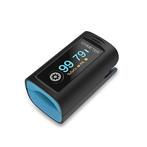 per adulti e bambini, Monitoraggio della saturazione dell'ossigeno per la saturazione dell'ossigeno nel sangue della frequenza cardiaca (include custodia e cordino)