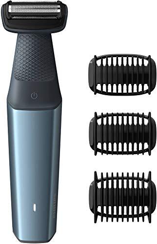 Philips BG3015/15 Bodygroom Series 3000 - Tagliacapelli per il corpo, Utilizzabile Sotto la Doccia con 3 Pettini Rifinitori