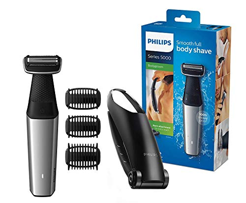 Philips BG5020/15 Bodygroom Series 5000 con testina per la depilazione della schiena e 3 pettini per il taglio