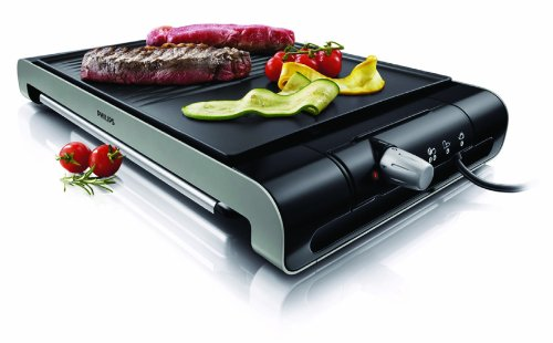 Philips HD4419/20 Grill da Tavolo con Piastra Liscia e Scanalata