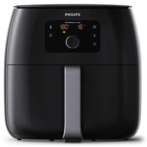 Philips HD9652/90 Airfryer XXL - Friggitrice Low-Oil e Multicooker con Tecnologia Twin Turbo Star, 2225 W, 1.4 kg, Plastica, Nero 43.3 x 32.1 x 31.5 cm
