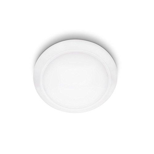 Philips Cinnabar Lampada da Parete o Soffitto, Lampadina LED Inclusa, 1 x 6 W, Diametro 27 cm, Bianco