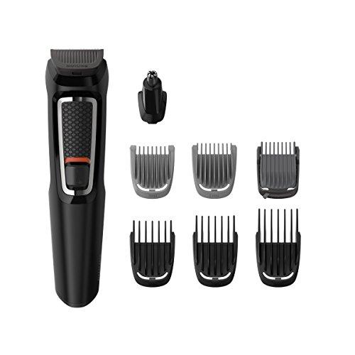 Philips mg3730/15–Rifinitore per barba e Precision 8in 1, Lame autoafilables, con custodia da viaggio