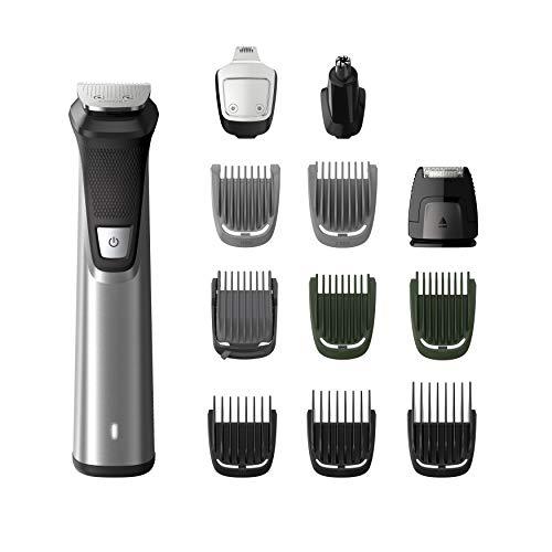 Philips MG7735/15 Grooming Kit serie 7000 - 12 in1 Tagliacapelli, Regolabarba uomo, Rifinitore Corpo/Naso/Orecchie, Premium, Impermeabile, in acciaio