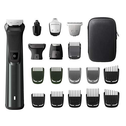 Philips MG7785/20 Multigroom Series 7000 18 in 1 rasoio per barba, regolabarba, regolabarba, regolabarba, peli del corpo, orecchie e naso, lame in metallo autoaffilanti