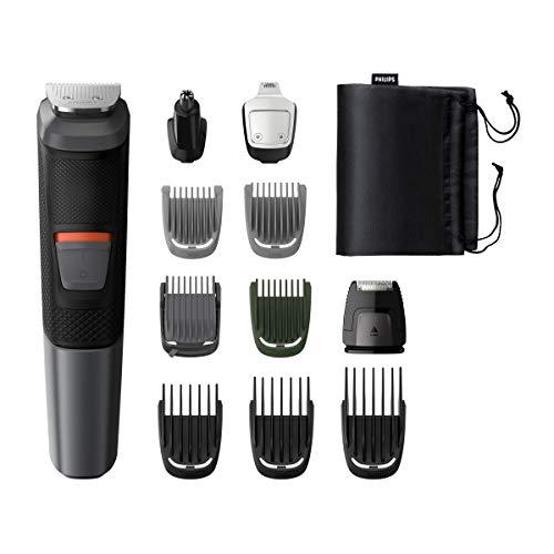 Philips Multigroom 5000 Series MG5730/15 - Rifinitore all-in-one 11 in 1, Barba, capelli e corpo