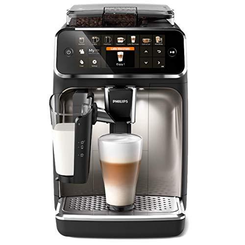Philips Serie 5400 LatteGo EP5447/90 Macchina da caffè automatica con macine in ceramica e filtro AquaClean, Caraffa LatteGo, 12 bevande, Nero