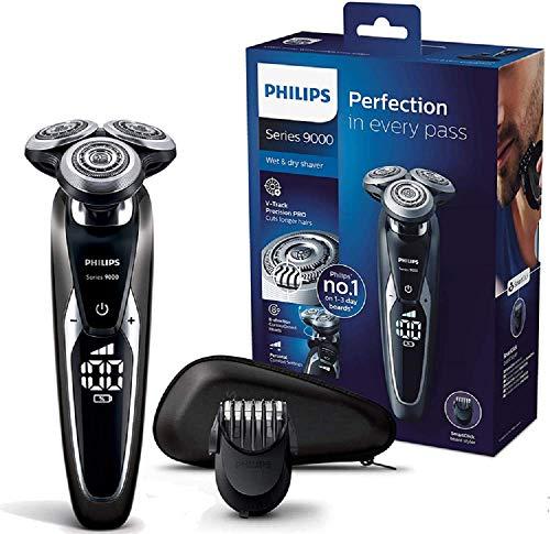 Philips SHAVER Series 9000 S9721/41 rasoio elettrico Rotazione Nero, Argento