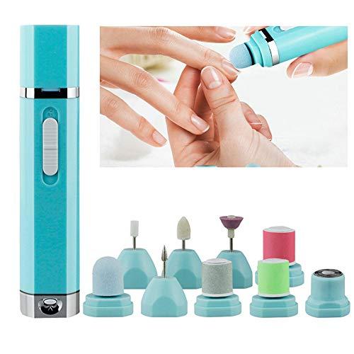 Pinkiou Electric Nail File Machine 9 IN 1 Nail Drill Buffer Lucidatore Manicure Set pedicure