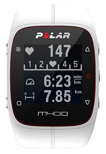 Polar M400 Cardiofrequenzimetro con GPS Integrato, Bianco