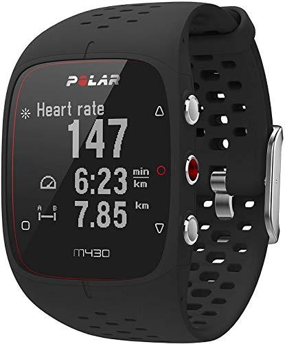 Polar M430, Orologio GPS Multisport con Cardiofrequenzimetro Integrato Unisex-Adulto, Impermeabile, Nero, M-L