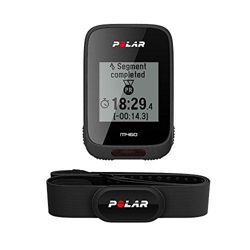Polar M460 HR, Bike Ciclocomputer con GPS Integrato e Fascia Cardio H10 M-XXL: 65-93 cm Unisex-Adulto, Nero, Taglia Unica
