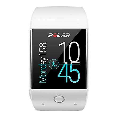 Polar, M600, Smartwatch Orologio GPS con Cardiofrequenzimetro Incluso, Monitoraggio Attività Fisica e Funzioni Polar Smart Coaching, Unisex - Adulto, Bianco