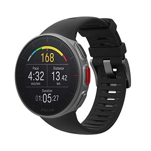 Polar Vantage V, Sportwatch per Allenamenti Multisport e Triathlon, Standard, Impermeabile con GPS e Cardiofrequenzimetro Integrato, M/L, Unisex Adulto, Nero