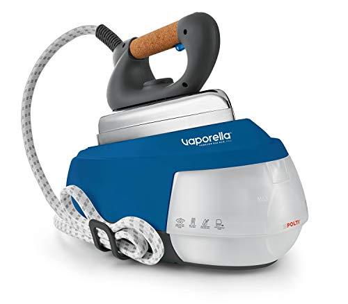 Polti Vaporella Forever 658 PRO Ferro da Stiro a Vapore con Caldaia, Autonomia Ilimitata, Funzione ECO, 5 BAR, Fino a 110 g/min, 2150 W, 0.7 Litri, Piastra in Alluminio, Blu