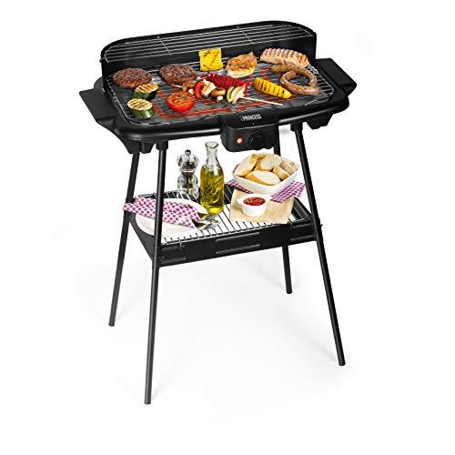 Princess 112247 Barbecue elettrico con supporto, 2000 W, Nero, 47 x 28 cm