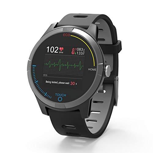 PRIXTON SWB28- Smartwatch ECG / Fitness Tracker Bluetooth con elettrocardiogramma, Pressione in Cinghia, Cardiofrequenzimetro, Compatibile con iOS-Android