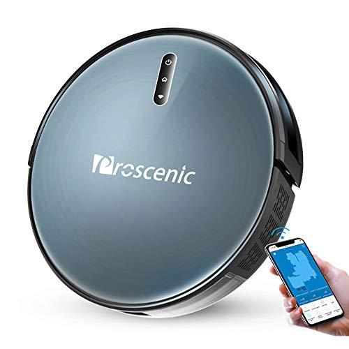 Proscenic 830T Aspirapolvere Robot, Vacuum and Mop 2000Pa, Alexa, controllo vocale Google Home, pulizia a umido della casa a 180 ㎡, ideale per capelli / capelli / polvere di animali domestici