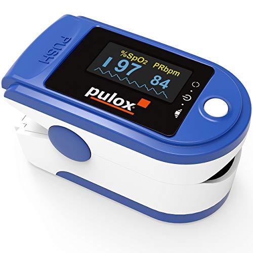 PULOX PO-200 solo pulsossimetro sensore di saturazione di ossigeno e polso cardiofrequenzimetro di colori diversi con OLED display