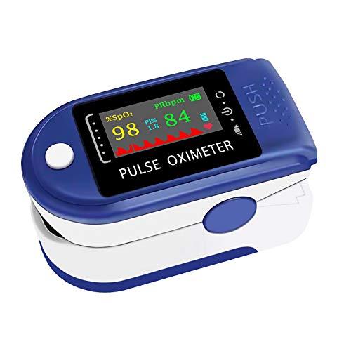 Pulsossimetro da Dito, KALAOK Saturimetro da Dito Portatile con Display LCD per Frequenza del Polso(PR) e La saturazione di Ossigeno(SpO2) Misure, per Uso Domestico, Fitness e Sport estrem