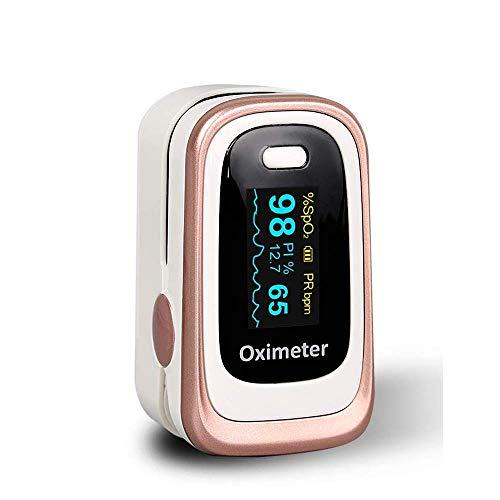Pulsossimetro, monitor di saturazione di ossigeno Pulsossimetro Spo2 pulsossimetro per adulti e bambini con schermo OLED omnidirezionale