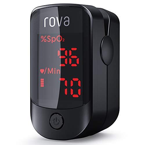 Pulsossimetro, Rova Saturimetro Ossimetro da Dito Portatile, Letture Immediate e Consecutive, Display OLED per Frequenza Del Polso(PR) e La Saturazione di Ossigeno(Spo2)