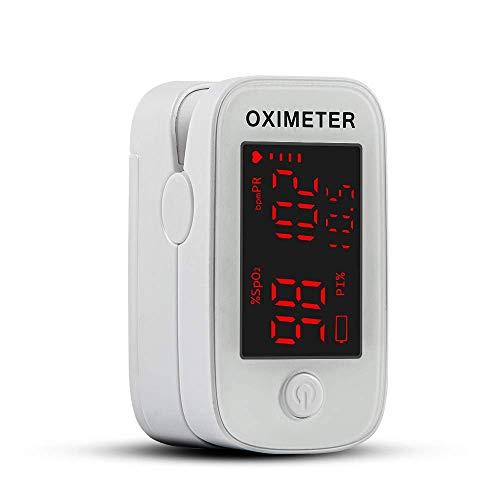 Pulsossimetro, Saturimetro da Dito, Misurazione Precisa Dell'Indice di Perfusione, Ossigeno nel Sangue, Frequenza Cardiaca, Saturimetro da Dito Professionale Bambini e Adulti