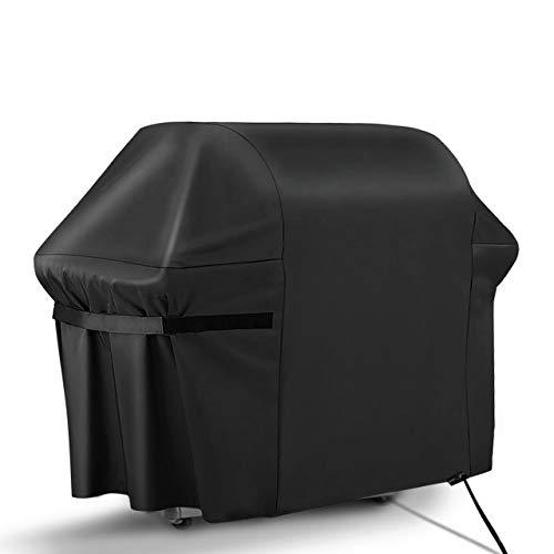 RATEL Copertura per Barbecue, Tessuto 420D Oxford Stoffa BBQ Grill Copertina con Cinghie autoadesive e Borsa di conservazione(163x61x122cm)