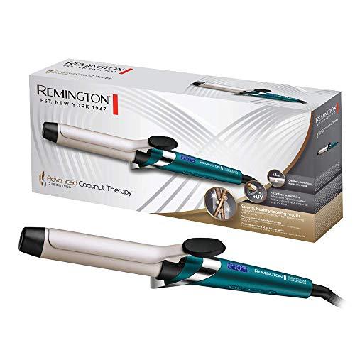 Remington Arricciacapelli Advanced Coconut Therapy, Spessore 32Mm Per Creare Onde E Boccoli Voluminosi - 430 Gr