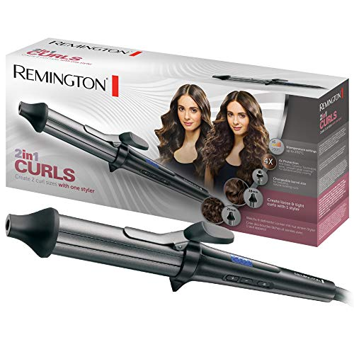Remington CI67E1 Arricciacapelli 2-in-1 Curls, con 2 Diametri, 23 mm e 38 mm, Antistatico, Ceramica