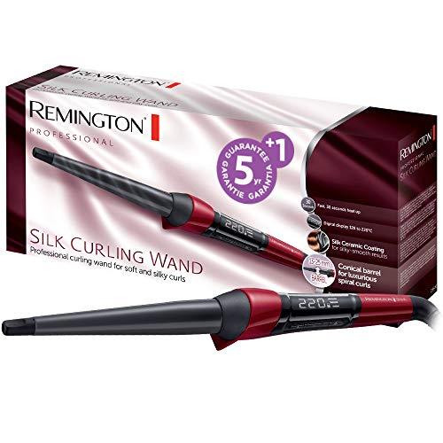 Remington CI96W1 Silk Curling Wand Arricciacapelli, Forma a Spirale, Standard
