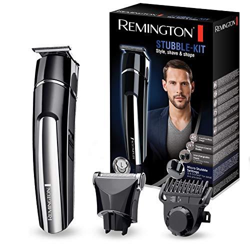 Remington MB4110 Regolabarba in Titanio, 2 Testine, Ricarica USB