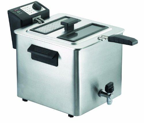 RGV Fry Type Friggitrice Elettrica con Rubinetto Scarico Olio, 8 Litri, 3000 watt