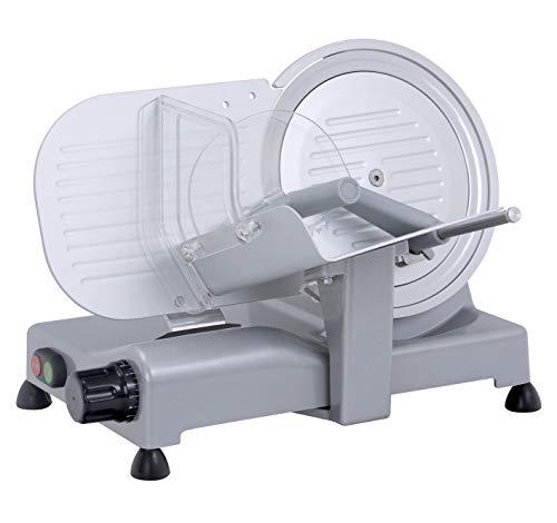 RGV LUSSO 25 GL Affettatrice Elettrica, Lama Diametro 25 cm, 140 watts, Alluminio, Colore Argento