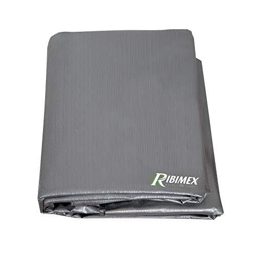 Ribimex PRH09190X70G Copertura Rettangolare per Barbecue 90x70x70h, Grigio Antracite, 90 x 70 x 70 cm