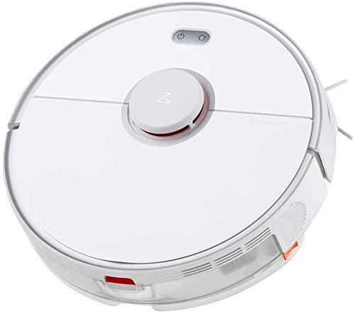 Roborock - Robot aspirapolvere Roborock S5 Max con funzione di pulizia, 2000 Pa, con controllo tramite App, per peli di animali e tappeti, colore bianco